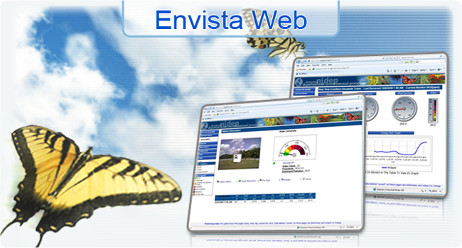 <h3>Envista Web</h3>Internet Web Site System from Envitech Europe, Prepared for National & Regional AQM Networks designed to allow you to publish your Envista ARM environmental data.